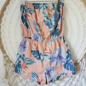 Urban Outfitters Pants - Kimchi Blue Palm Beach Strapless Romper